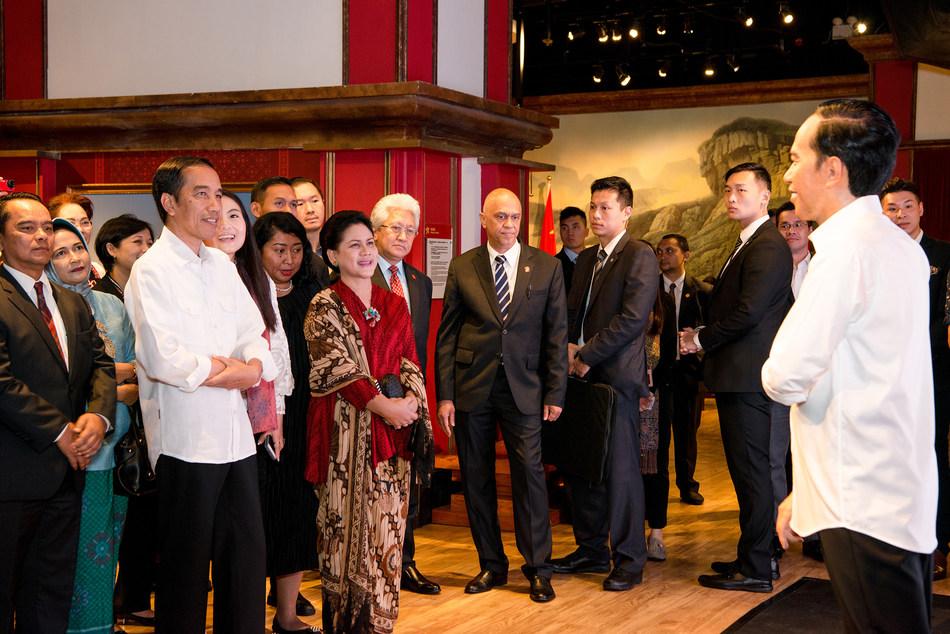 President Joko Widodo feels satisfied with his figure.