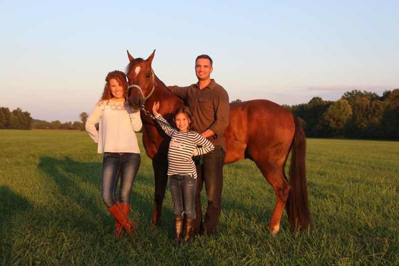 SaddleBox owner Phil Van Treuren with his wife Sharon and daughter Sophie.