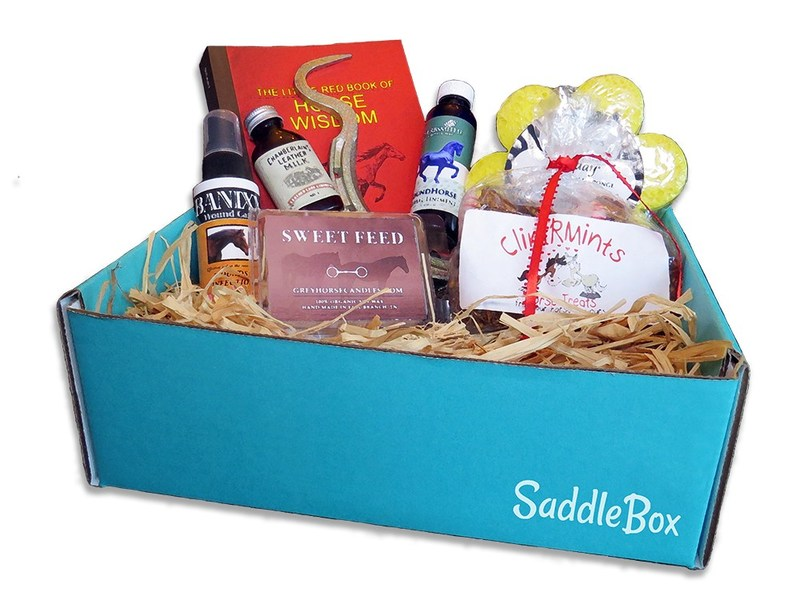 SaddleBox, a monthly subscription box for horse owners.