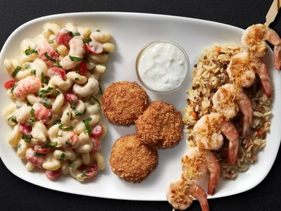 Guests at Red Lobster's Create Your Own Trio event can build their perfect plate by choosing from new and classic selections, including the NEW! Lobster Cavatappi, NEW! Southern-Style Crab Cakes and NEW! Toasted Parmesan Grilled Shrimp.