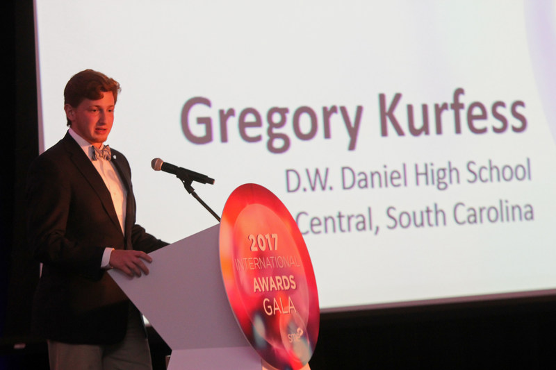 The SME Education Foundation has awarded its $40,000 SME Education Family Scholarship to Greg Kurfess, who will be attending the Georgia Institute of Technology, majoring in mechanical engineering.