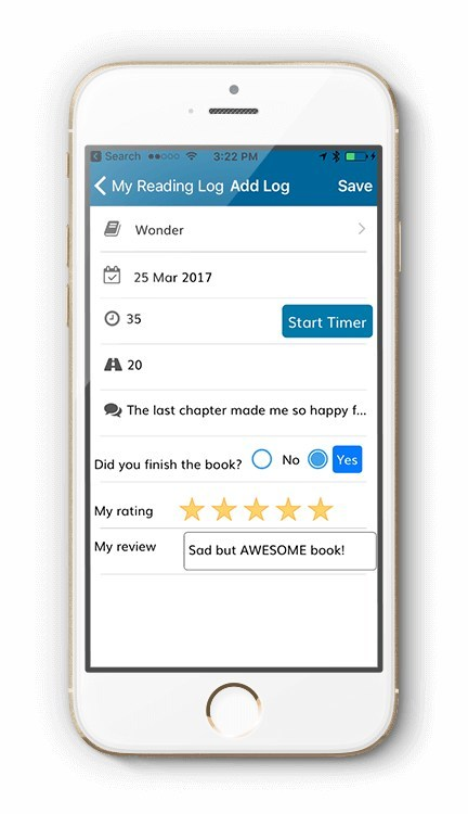 Kids and teens read offline then log their reading and enter book reviews. As they read, they earn reading badges and RR Miles, which they can trade in for jokes, riddles or fun rewards their parents and teachers set up for them.