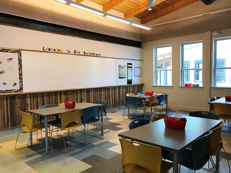 Inside the Learning Center at Lakeline Station Apartments. It will provide a variety of on-site support services, including after-school and summer learning programs, and fitness, nutrition and money management classes.