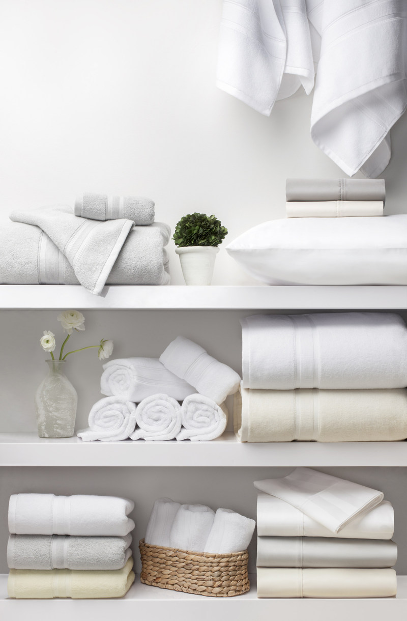 PimaCott Wamsutta bed linens, bedding basics and towels.
