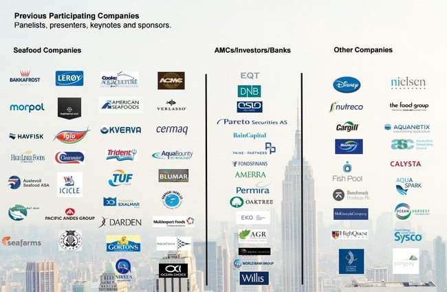 Our past event attendees include some of the largest seafood companies and private equity and institutional investors.