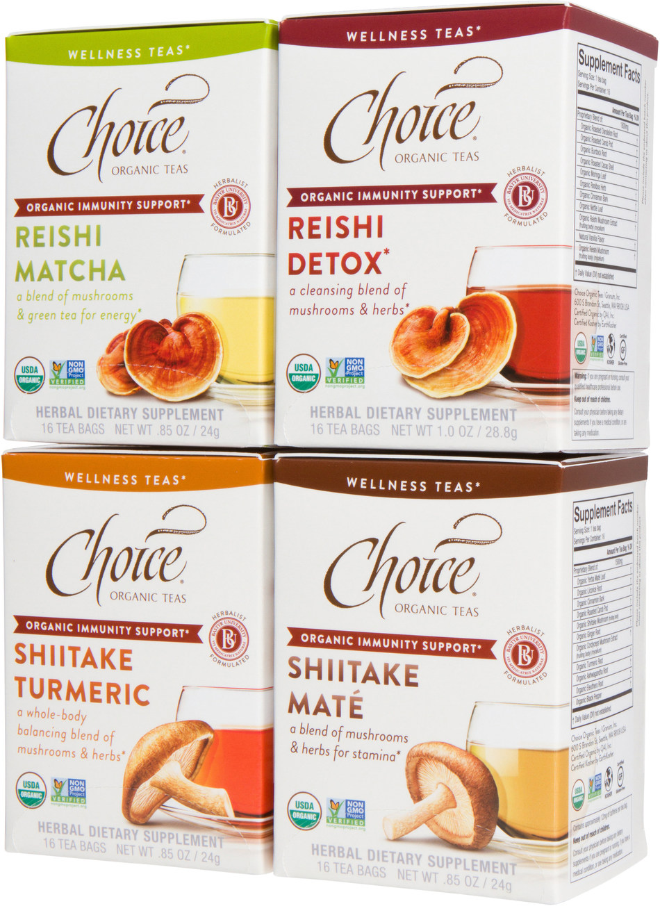 Choice Organic Teas introduces new Mushroom Wellness Teas for immunity support.*