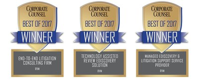 Corporate Counsel Magazine Recognizes RVM as a Top Provider in Litigation Services