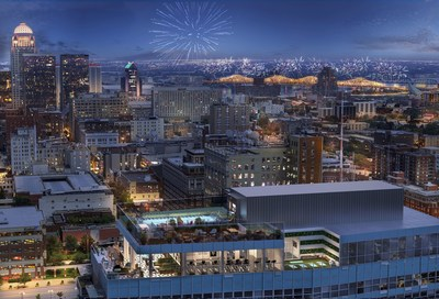 800 City Club Apartments rooftop, Louisville