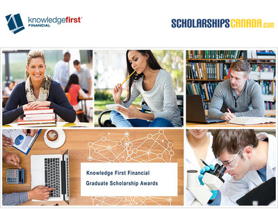 Ten Knowledge First Financial Graduate Scholarship Awards are available for students heading to grad school this September! The ideal applicant is a well-rounded student with an excellent record of achievement in academics, athletics and extra-curricular activities. The deadline to apply is June 12, 2017 11:59PM. Go to knowledgefirstfinancial.ca for more information. (CNW Group/Knowledge First Financial Inc.)