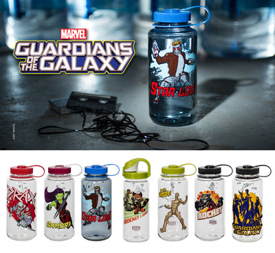 Nalgene Outdoor introduces a new universe of its popular reusable bottles inspired by Guardians of the Galaxy characters.