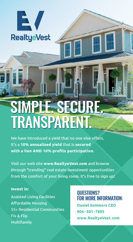RealtyeVest. Simple, Secure and Transparent.