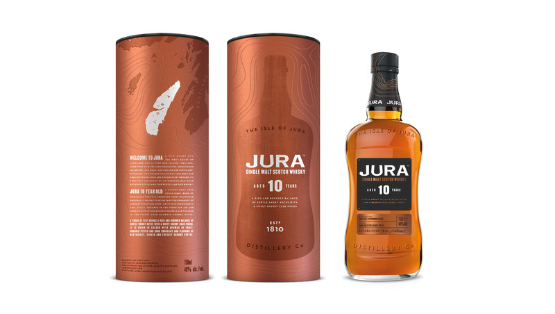 Jura 10 is now available in the US. A touch of peat brings a rich and rounded balance of subtle smoky notes with a sweet Sherry cask finish.