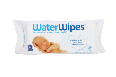 WaterWipes are the World's Purest Baby Wipes made with just two ingredients: 99.9% water and 0.1% grapefruit seed extract, perfectly made for a baby's delicate skin.