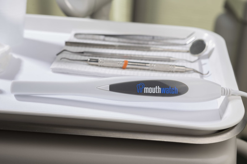 The MouthWatch intraoral camera can be used as part of the turnkey option for TeleDent.