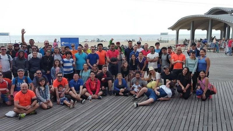 A photo of MTS Logistics' 2016 Bike Tour for Autism.