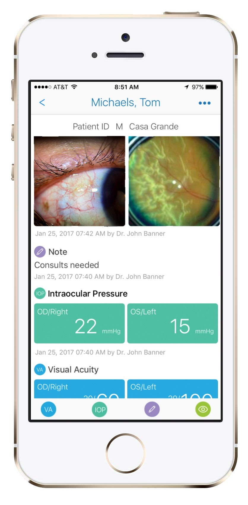 The Paxos mobile application enables providers to securely capture and discuss patient information.