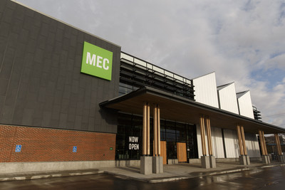 MEC's new 41,000-square-foot flagship store at 11904 104th Avenue, opened in the Brewery District over the weekend, and will be hosting its grand opening event on Sunday, May 7. (CNW Group/MEC)