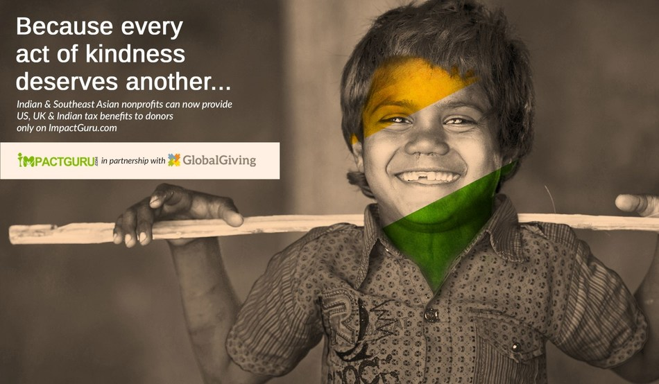 Impact Guru and GlobalGiving strategic partnership (PRNewsfoto/Impact Guru Technology Ventures)