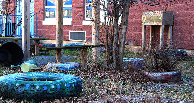 """A """"before"""" picture of Ben Franklin Elementary's garden area in Harrisburg, Pennsylvania.  The school plans to revitalize the garden with the help of their students and a garden grant from Safer® Brand."""