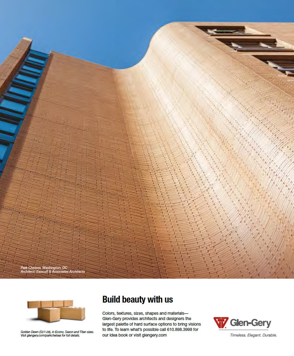 Glen-Gery's Award Winning Advertisement in Architectural Record.