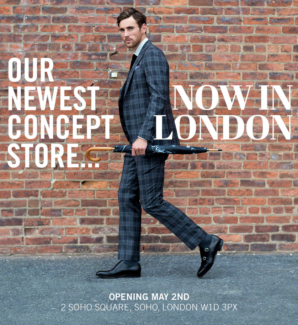 Knot Standard, the fastest growing menswear company in the Unites States opens a Concept Store in London's Soho Square neighborhood. (PRNewsfoto/Knot Standard)