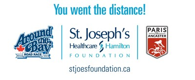 This spring St. Joseph's Healthcare Foundation asked the community to go the distance through two fundraising events, the Around the Bay Road Race in March and the Paris to Ancaster: A Ride for Research in April, in support of innovative patient care and life-saving research at St. Joseph's Healthcare Hamilton. (CNW Group/St. Joseph's Healthcare Foundation)