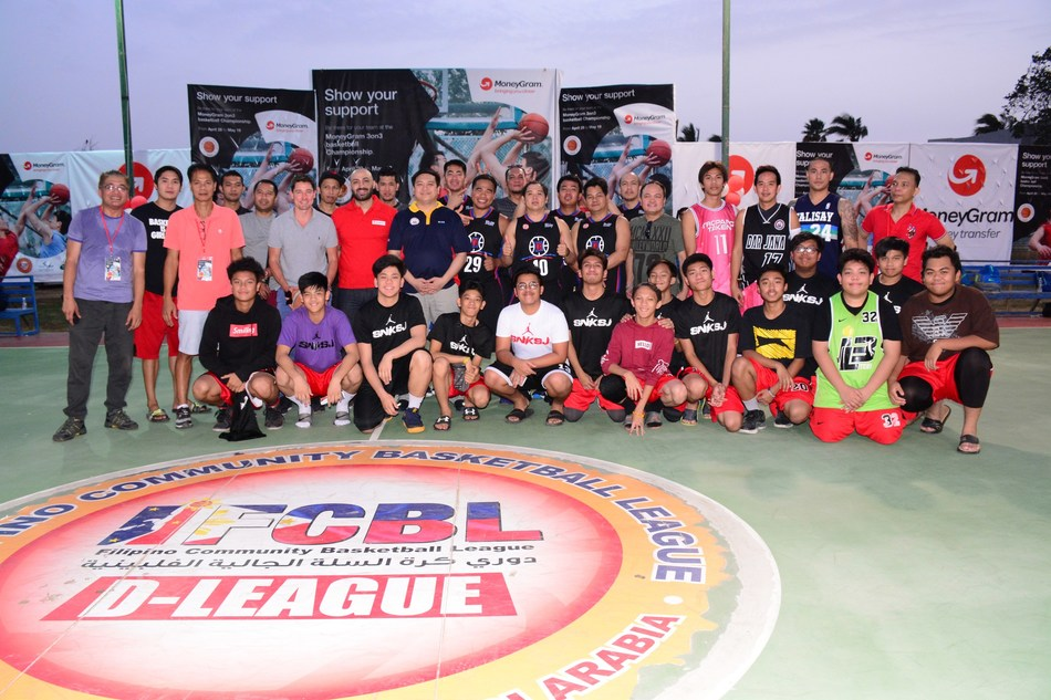 MoneyGram's 3on3 Basketball Championship. First structured basketball tournament for Filipino community in Jeddah