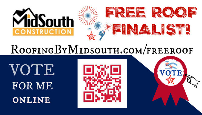 Roofing Contractor MidSouth Construction is giving away a FREE roof to a family in need in the Nashville, Davidson County and Murfreesboro, Rutherford County area! Log on and read the stories of the four finalists and then take a few minutes to VOTE for the family you feel is most deserving!