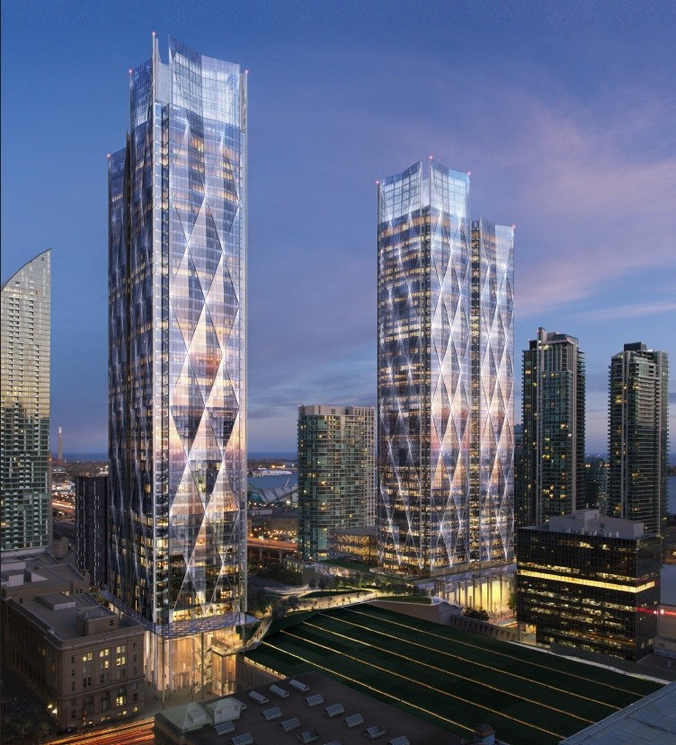 81-141 Bay St. office towers rendering. (CNW Group/EllisDon Corporation)