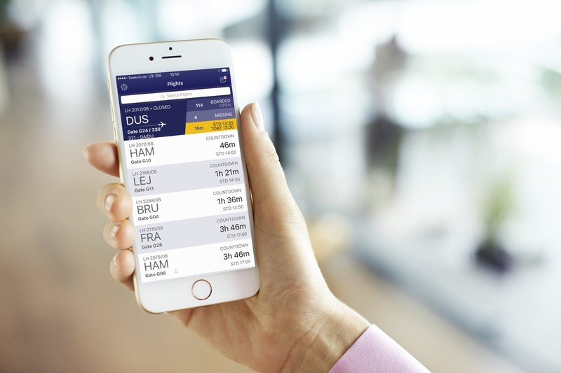 With IBM MobileFirst for iOs app, Manage Gates, Lufthansa flight managers are equipped with up-to-date critical information to help ensure safe and on-time travel for passengers. Credit: Lufthansa