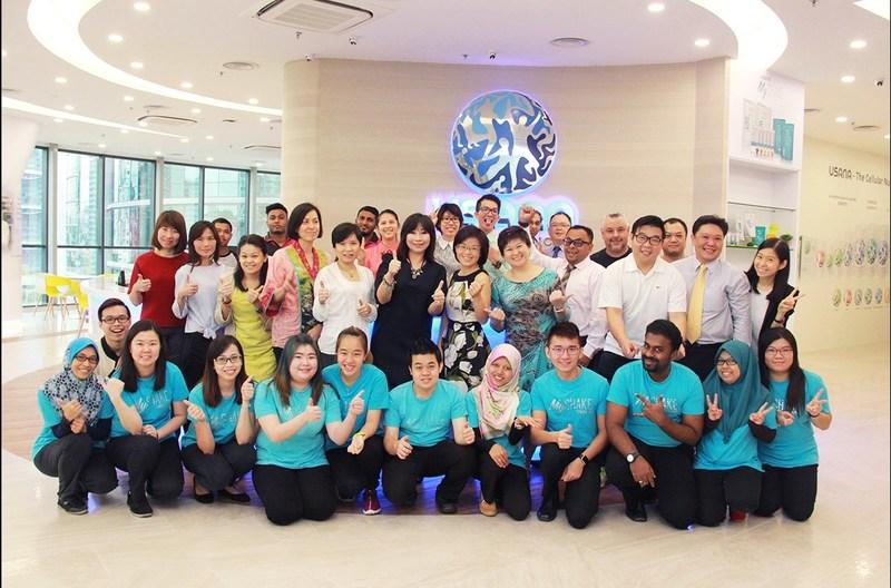 The USANA Malaysia team at the new office.