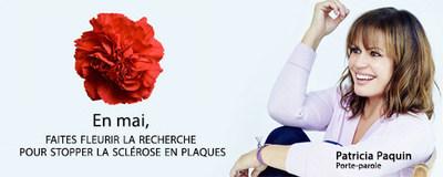 Patricia Paquin de retour comme porte-parole du Mois de la sensibilisation à la sclérose en plaques (Groupe CNW/Société canadienne de la sclérose en plaques)