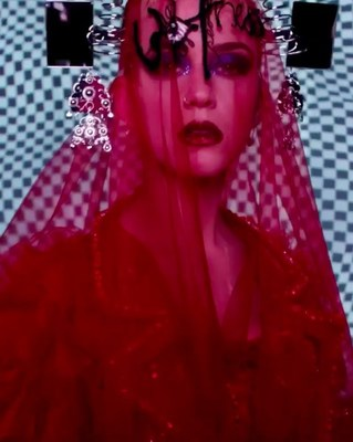 Katy Perry for Met Gala. Digital Art Instalation by SILA SVETA