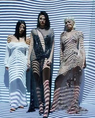 Kim Kardashian, Kendall and Kylie Jenner for Met Gala. Digital Art Instalation by SILA SVETA