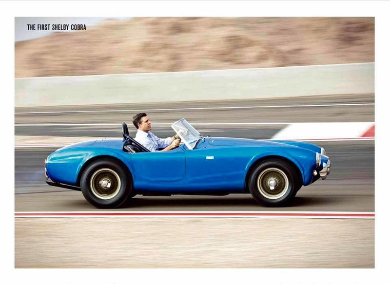 Aaron Shelby drives the first Shelby Cobra which sold at auction for a record $13.75 Million.