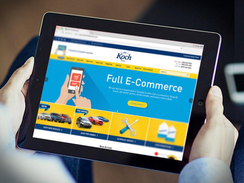 e-Commerce dealership website.