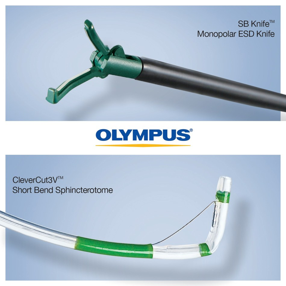 Olympus announces availability of new endoscopic therapeutic devices at Digestive Disease Week conference May 6-9 in Chicago, Ill., a signal of the Olympus commitment to innovation in the field of endoscopy. The CleverCut3V Distal Wireguided Oblique Tip device is designed to align the axis of the sphincterotome to the bile duct, improving cannulation success and reducing unintended pancreatic duct manipulation. The CleverCut3V Distal Wireguided Short Bend sphincterotome is designed to provide a