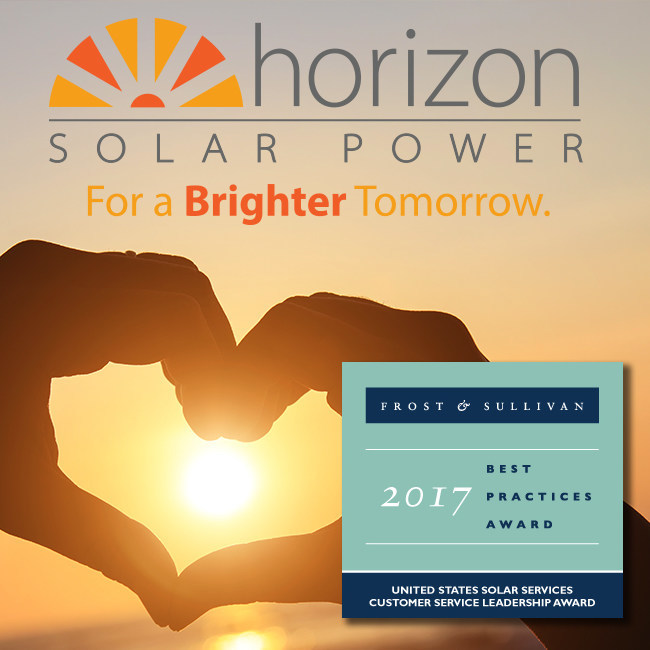 Horizon Solar Power 2017 Frost & Sullivan Customer Service Leadership Award