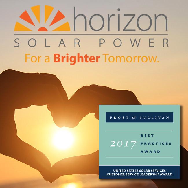 Horizon Solar Power 2017 Frost & Sullivan Customer Service Leadership Award