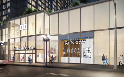 Manulife Centre Redevelopment – Balmuto Street West View. This promotional rendering is not the final ...