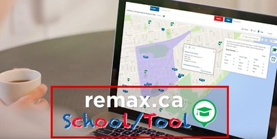 RE/MAX Launches the New School Tool making finding your next home near your ideal school one step easier. (CNW Group/RE/MAX)