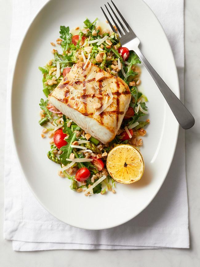 Fresh Catch with Seasonal Vegetable Salad