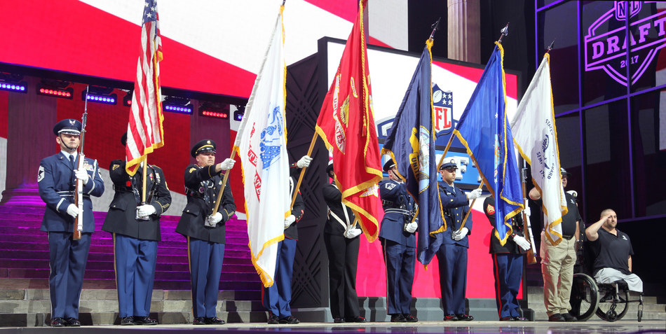 Warriors served by Wounded Warrior Project recently got to experience the 2017 Draft up close and personal, thanks to the NFL.