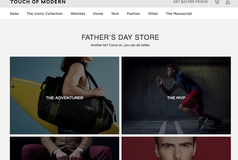 Touch of Modern Father's Day 2017 Gift Store