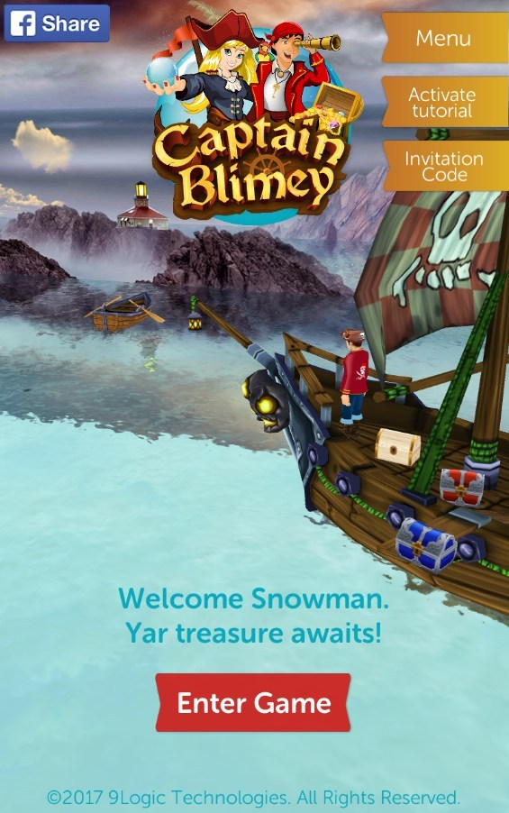 Captain Blimey, a free, pirate-themed, augmented reality (AR), treasure hunt mobile game, today announced the availability of its application for any mobile device via Google Play and the App Store.