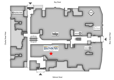Manulife Centre – 55 Bloor Street West – Ground Floor Plan. Drawing is not to scale. (CNW Group/Over the Rainbow Ltd.)