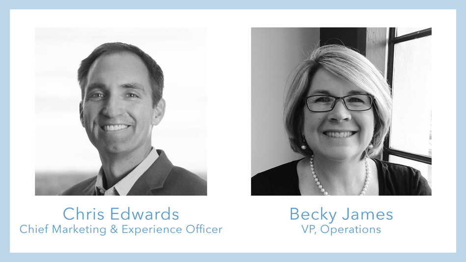 Chris Edwards will serve as Chief Marketing & Experience Officer while Becky James has joined as Vice President of Operations. Edwards will oversee global marketing brand strategy, customer acquisition, market research, and lead efforts to deliver a superior customer experience. James will manage client success operations, including onboarding, professional services (technical and consulting), customer service, and support needs.