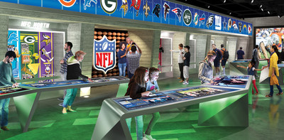 Participants can test their favorite team knowledge with more than 20 interactive touchscreen stations representing all 32 NFL teams. (CNW Group/Cirque du Soleil Canada inc.)