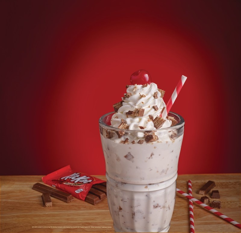 Steak 'n Shake's new KIT KAT® Milkshake