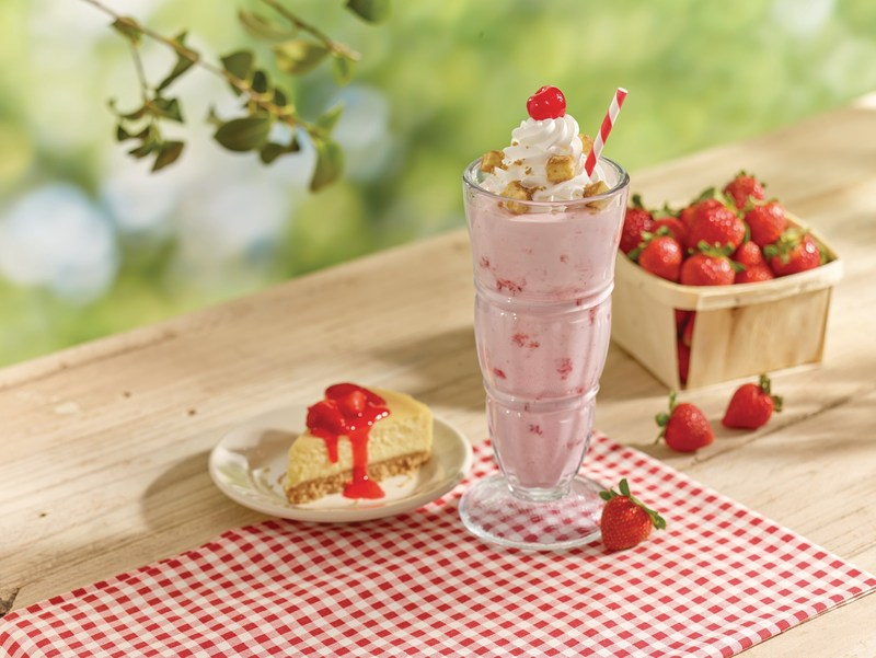 Steak 'n Shake's new Strawberry Cheesecake Milkshake